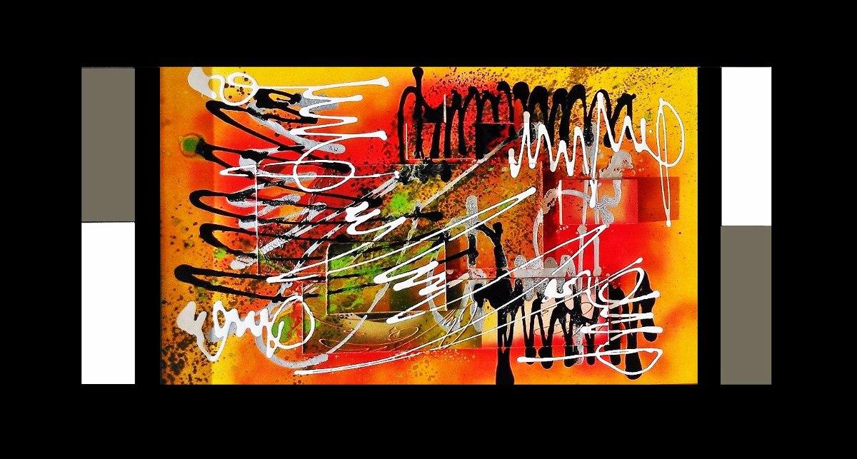 Cuadros abstractos modernos alto relieve marco madera bs - Cuadros con relieve modernos ...