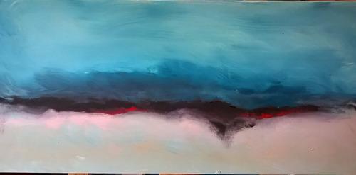 cuadros abstractos modernos pintados a mano acrílico y oleo