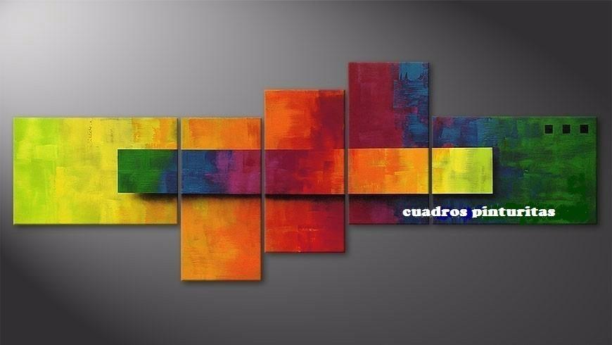 Cuadros abstractos modernos polipticos coloridos 80 for Fotos de cuadros abstractos sencillos