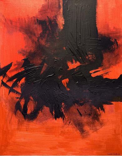 cuadros abstractos modernos - rojos y negros