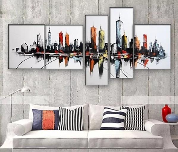 Cuadros Abstractos Modernos Sala Comedor Oficina 120cmx65cm