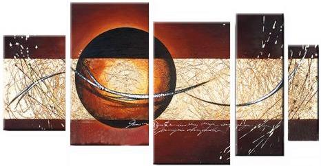 Cuadros abstractos modernos texturados tripticos - Cuadros decorativos para cocina abstractos modernos ...