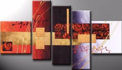 cuadros abstractos modernos tripticos pintados en tela
