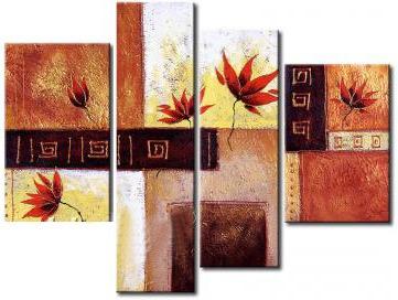 cuadros abstractos modernos tripticos polipticos textur