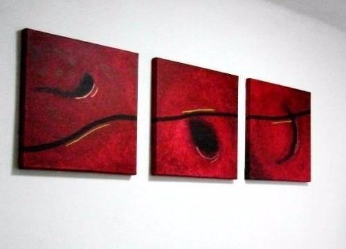 Cuadros abstractos modernos tripticos decorativos 35 for Donde puedo comprar cuadros decorativos