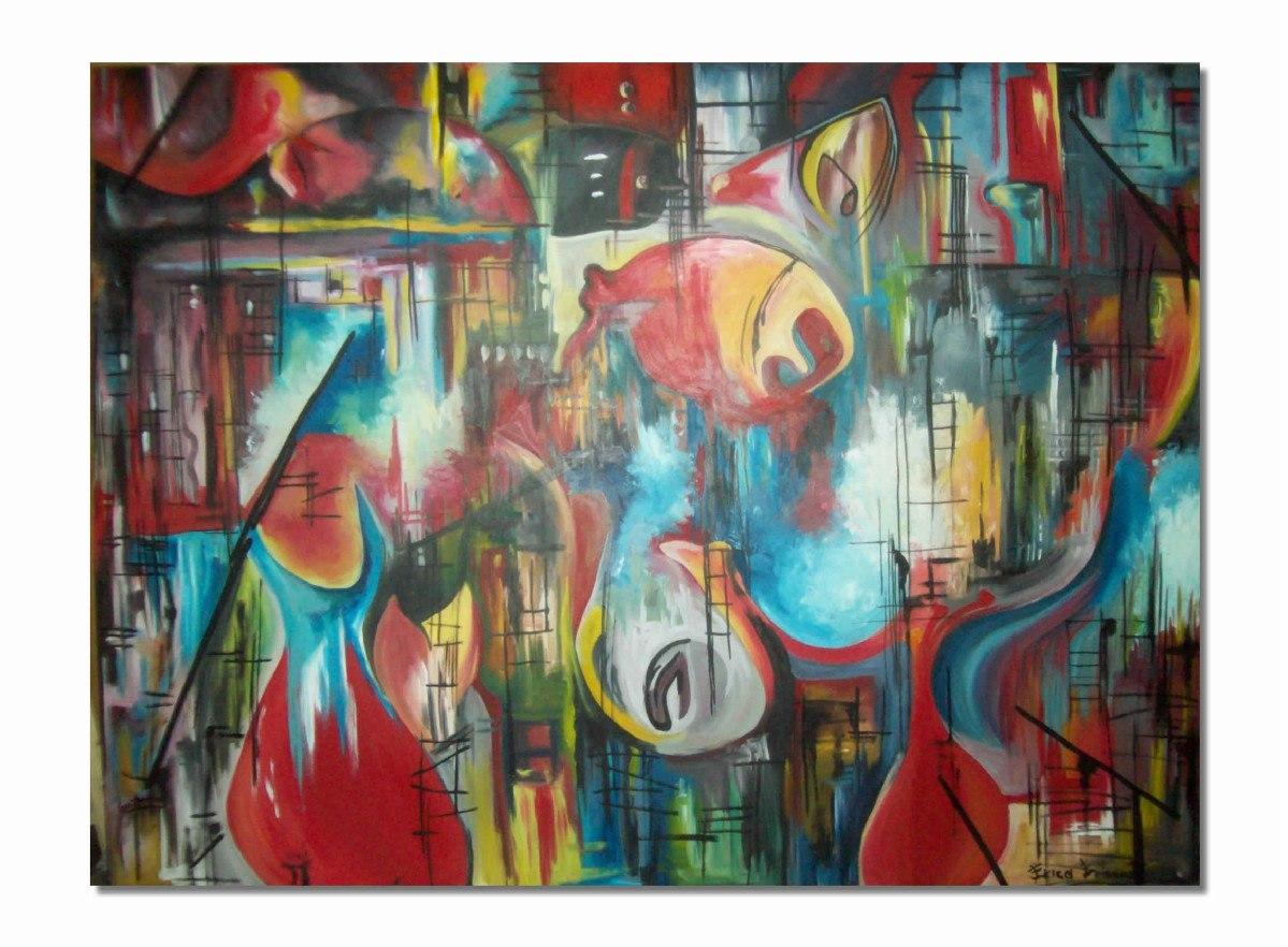 Cuadros abstractos peces pintura moderna decoratica arte for Imagenes de cuadros abstractos rusticos