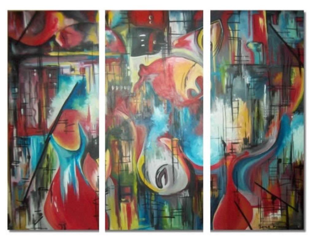 Cuadros abstractos peces pintura moderna eridie251 6 - Cuadros pintura acrilica moderna ...