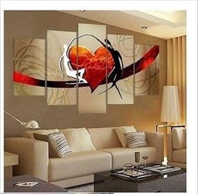 Cuadros Abstractos Sala Comedor Oficina 120x65cms Pintados!