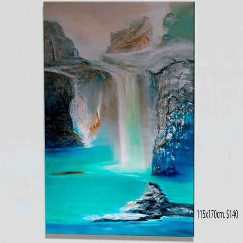 cuadros abstractos semi texturizados diversas formas colores