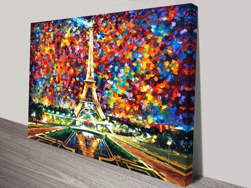 cuadros abstractos tipo oleo en lienzo de l. afremov varios