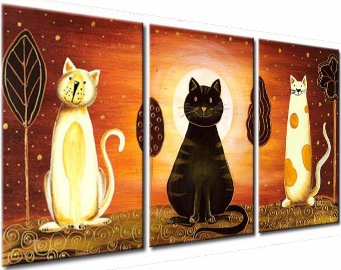 Cuadros Abstractos Tripticos Pintado A Mano Living Oficina - $ 1.750 ...