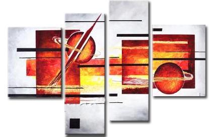 cuadros abstractos tripticos polipticos modernos textura