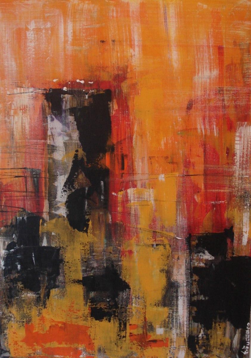 Cuadros con texturas stunning lo fui pintando tambin con for Imagenes de cuadros abstractos con texturas
