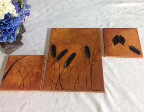 cuadros acrílicos, hechos a mano, personalizados