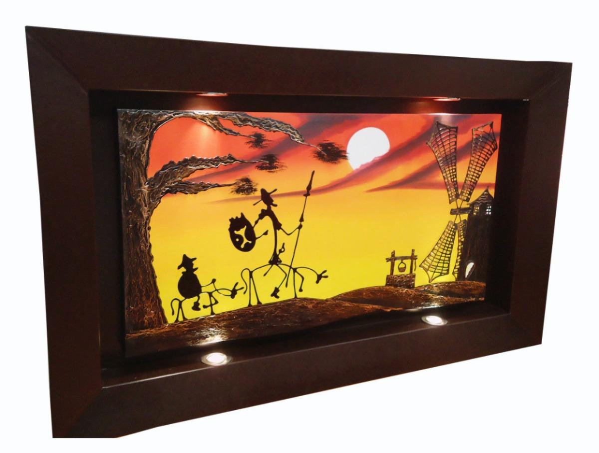 Cuadros al leo marco con luz spo 2 en mercado - Iluminacion para cuadros ...