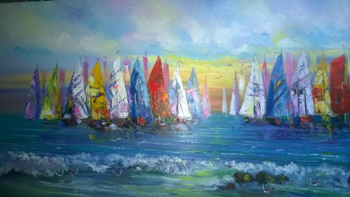 Cuadros Al Oleo Marinas Pinturas Para Sala Hogar S 380 00 En