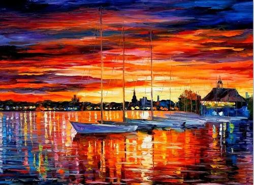 cuadros al oleo marinas.pinturas para sala hogar