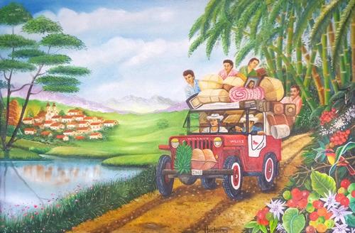 cuadros al oleo paisaje cultural cafetero