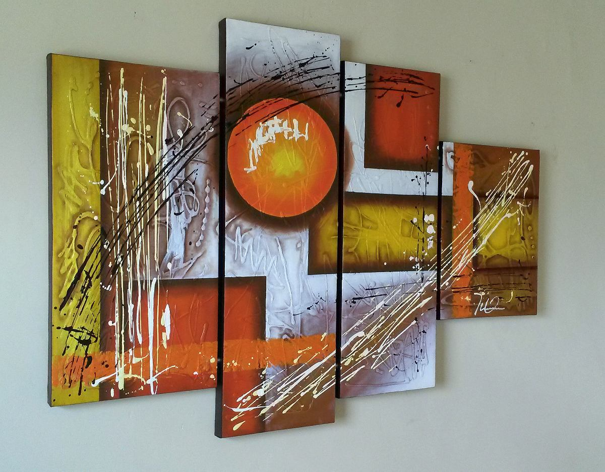#AC451F Cuadros Al Oleo Sobre Lienzo Abstractos Pintura Moderna Bs. 29.300  1200x935 píxeis em Cuadros Modernos Para Sala De Estar