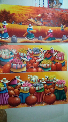 cuadros al oleo tipicos.pinturas para sala hogar