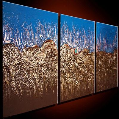 Cuadros al leo tr pticos abstractos lbf 1 en for Imagenes de cuadros abstractos rusticos