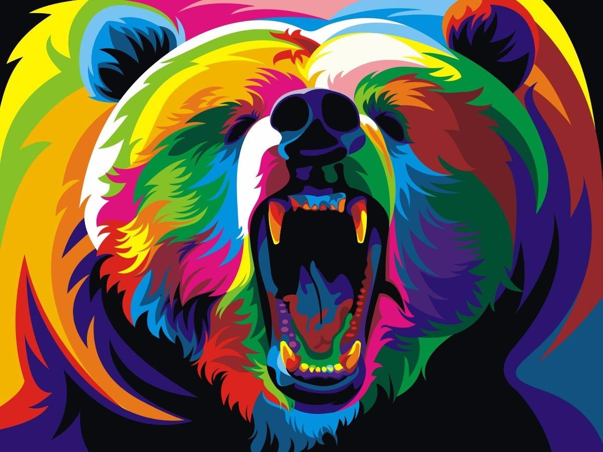 Cuadros Animales - Decoracion Oso Bosque Full Color 27x42 - $ 275,00 ...