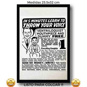 23950c1826da8 Cuadro Anuncio Ventriloquo Retro Canvas Tela Arte Vintage Pu