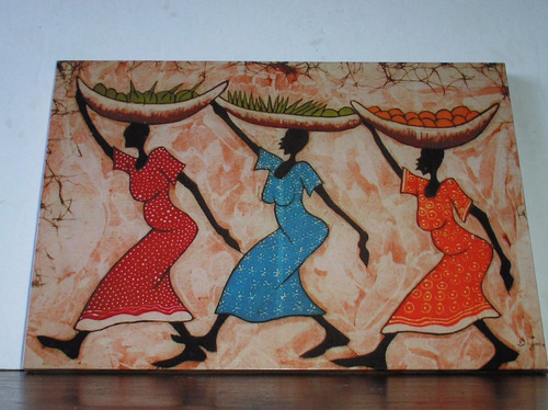 cuadros arte pictorico africano - negras africanas - 15x20