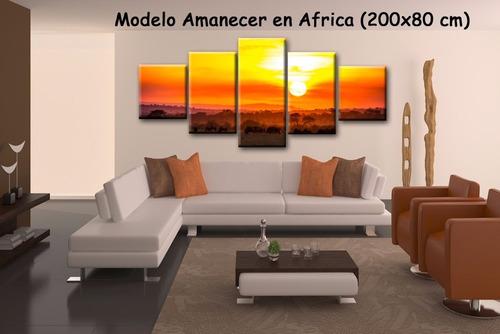 cuadros artesanales sobre lienzo canvas algodón - 200x80 cm