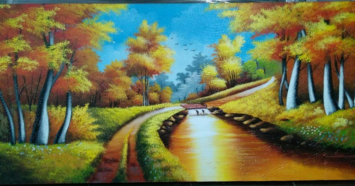 Cuadros Artisticos Formato 170x80 Pintura Moderna 550000 En