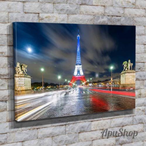 cuadros canvas 90x60 ciudad parís francia torre eiffel y más