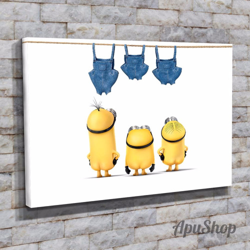 cuadros canvas 90x60 minions mi villano favorito infantiles