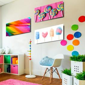 Cuadros Canvas Decorativos Dulces Niños Estancias Kinder