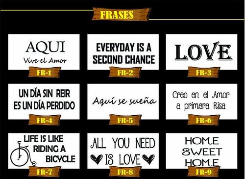 cuadros carteles vintage madera palabras frases