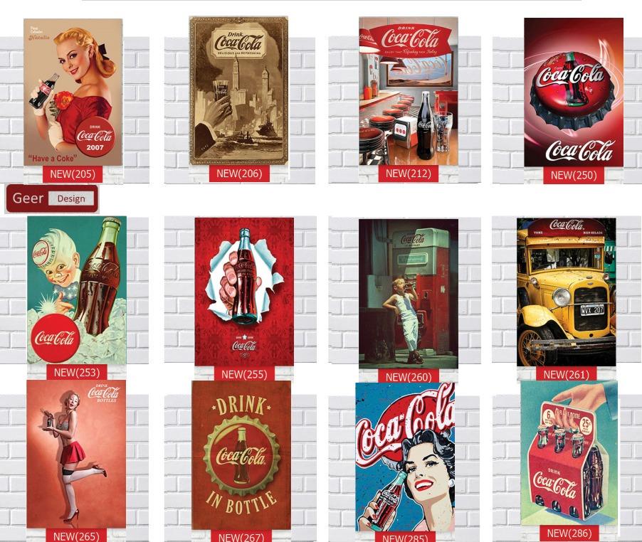Cuadros chapas vintage mdf coca cola en - Chapa coca cola pared ...