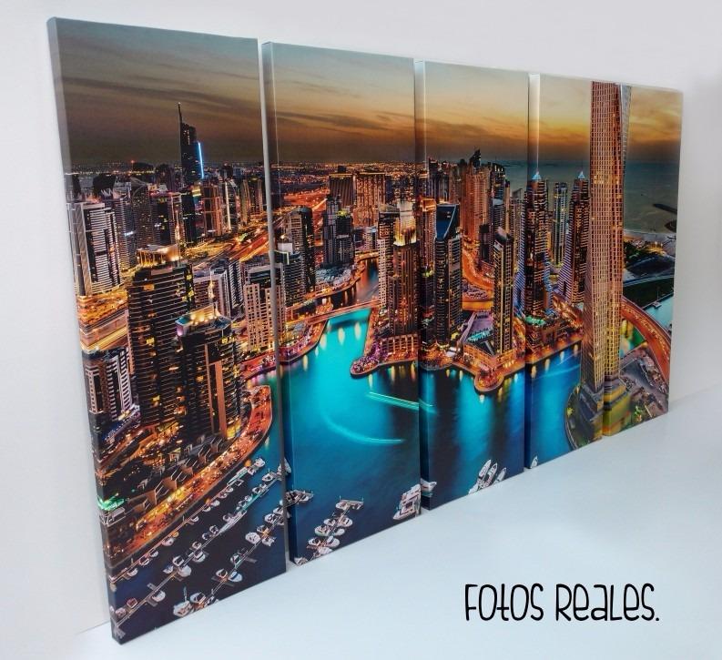 Cuadros Cinco Partes Ciudades Dubai - $ 2.501,07 en Mercado Libre