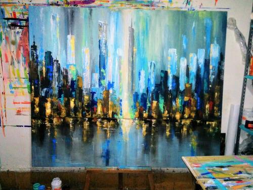cuadros ciudad abstractos