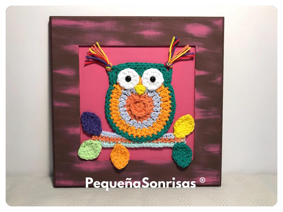 Cuadros Con Amigurumis Crochet Búho - $ 300,00 en Mercado Libre