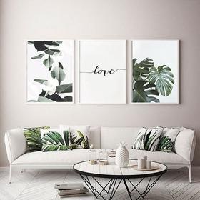 Cuadros Con Diseños Naturales Y Frescos Set X 3