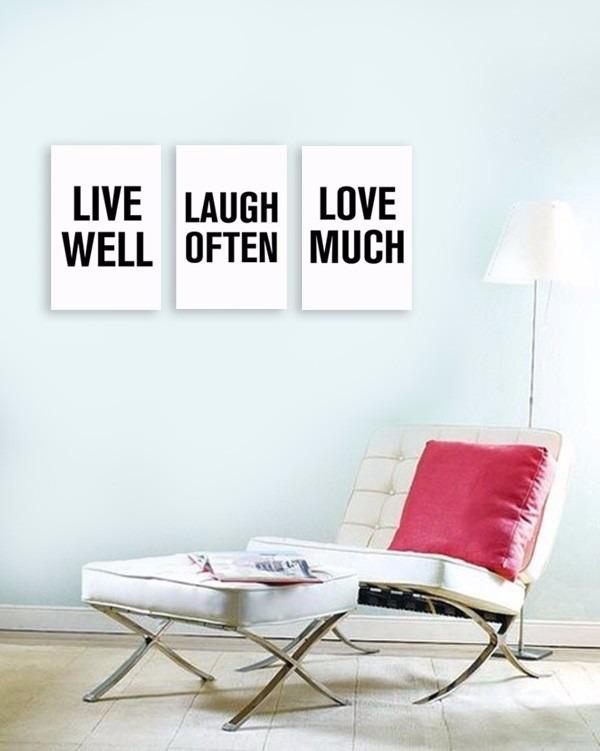 cuadros con frases x para pared modernos