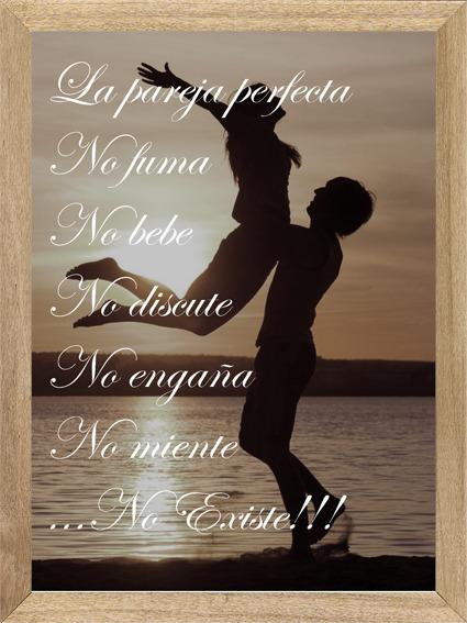 Cuadros Con Frases La Pareja Perfecta No Existe M361 46233 En