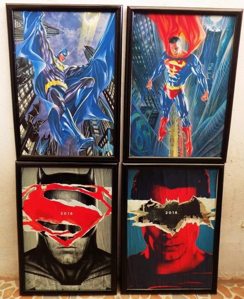 Cuadros Con Marco - 60x40cm - Batman Vs Superman