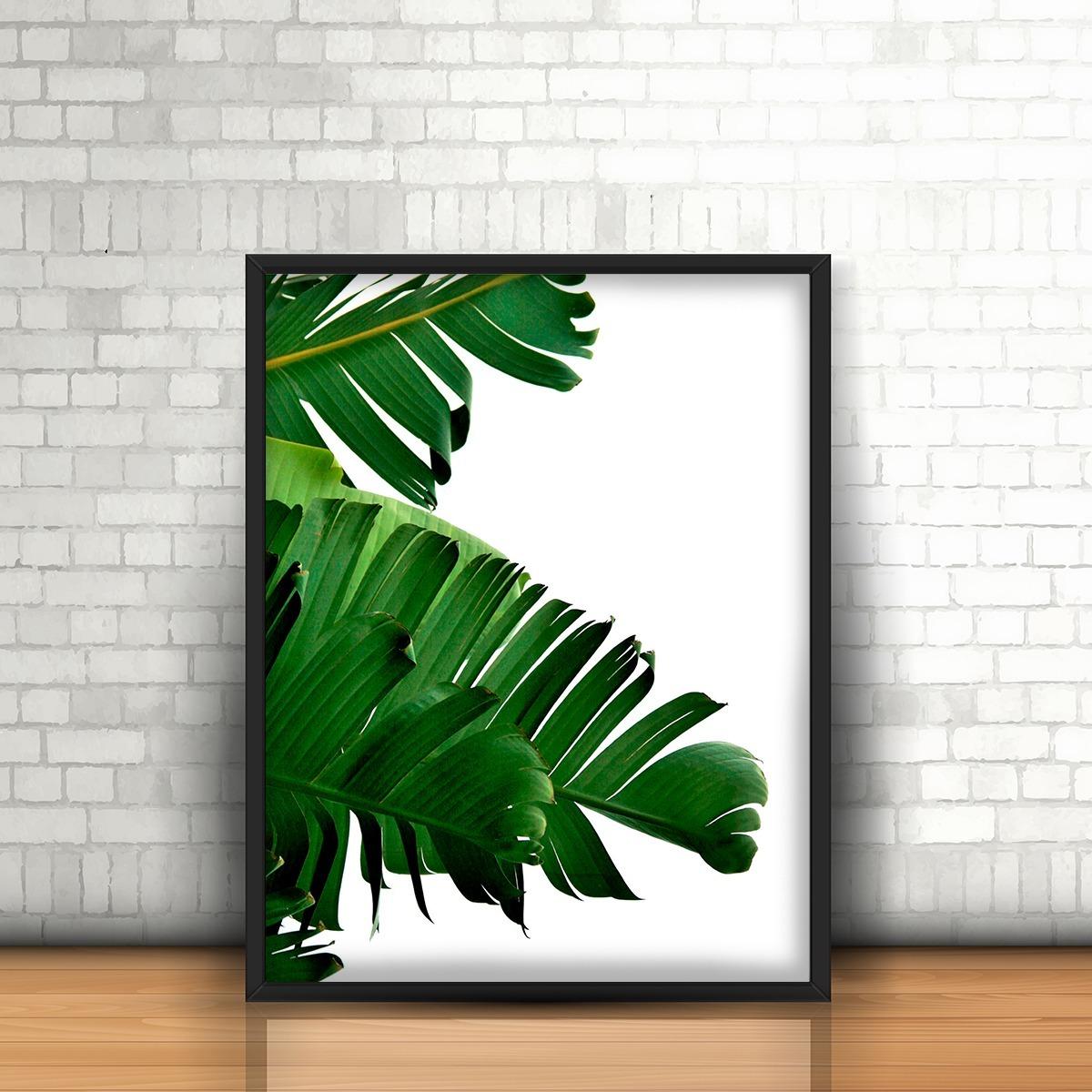 Cuadros Con Marco Y Vidrio. Hojas. Verde. Plantas. 30x40cm - $ 445 ...