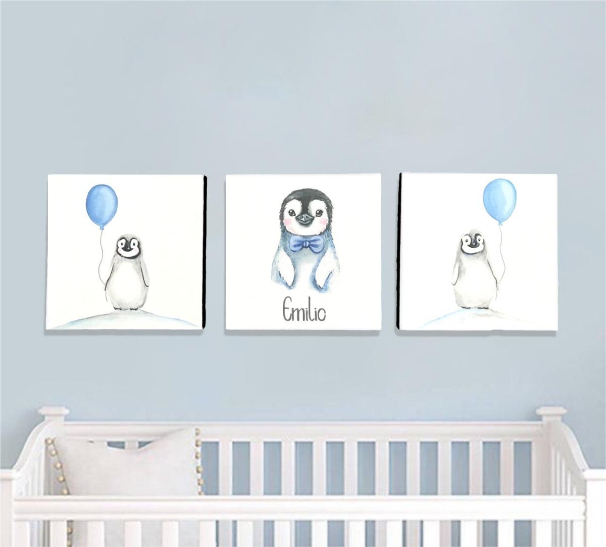 Cuadros Cuarto Bebé Niña Pintado A Mano Personalizado