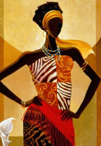 cuadros de  africanas modernos 60 x 60