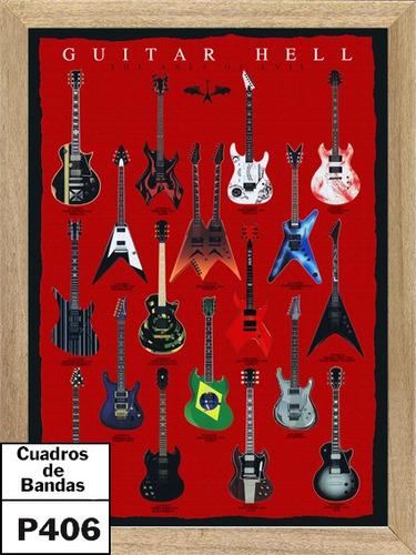 cuadros de bandas  guitarras infernales  p406