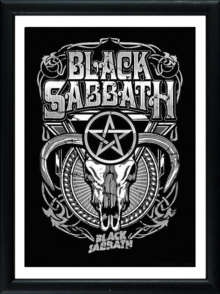 Cuadros De Black Sabbath! Marco Madera+vidrio+foto! Deco - $ 549,00 ...