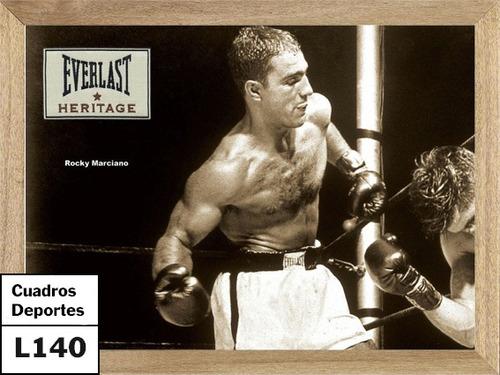 cuadros de deportes boxeo rocky marciano  l140