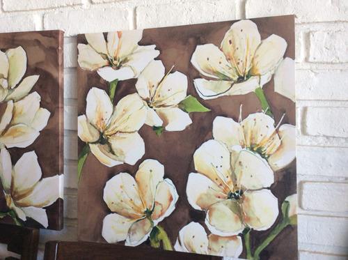 cuadros de flores $ 490 c/u