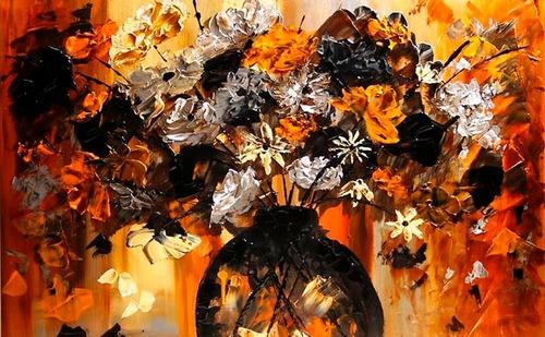cuadros de flores y colores